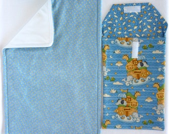 Noah's Ark Diaper Changing Pouch Set includes: Changing Pad & Pouch