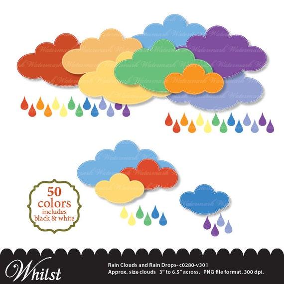 rain clip art rainbow clipart baby shower silver cloud raindrops rh catchmyparty com Family Clip Art Scrapbook Scrapbook Borders and Clip Art