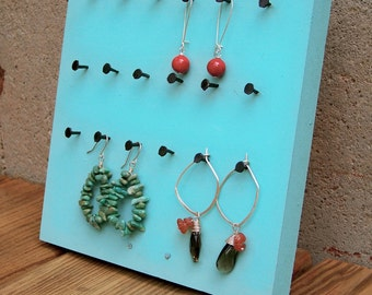 ON SALE - Reclaimed Wood Table Top Earring Display
