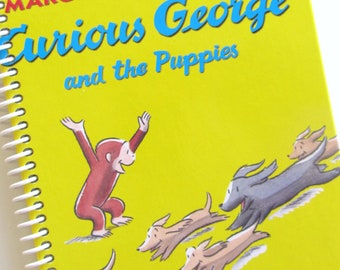 Journal Diary CURIOUS GEORGE Notebook Scrapbook Recycled