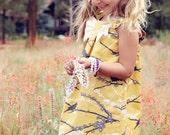 Spring Vintage Yellow Sparrow Dress