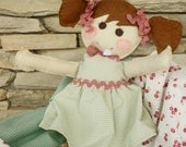 Loosie Dolly - Floppy Felt Tooth Keepsake Doll - A Perfect Holiday Gift - 100% hand stitched