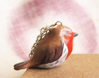 Bird necklace, Robin necklace