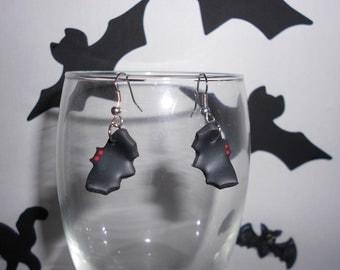 Clay Bat Earrings