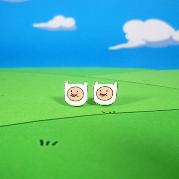 Adventure Time Earrings Finn the Human