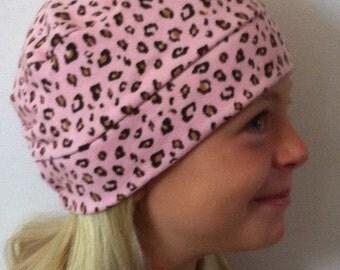Child Leopard on Pink Hat