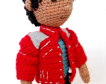 Michael Jackson Amigurumi Crochet doll Pattern MJ Tribute