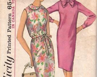 1960s Shift Dress Pattern Simplicity 5452 Size 12