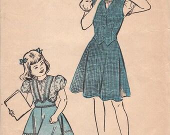 Early 1950s Girls Weskit, Blouse & Skirt Pattern Advance 4452 Size 12