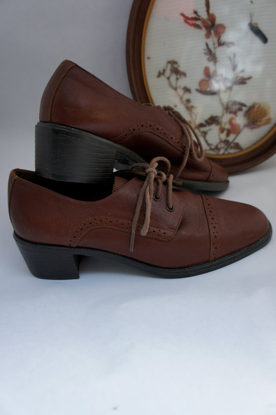 Low Heel Leather Brogues 6M