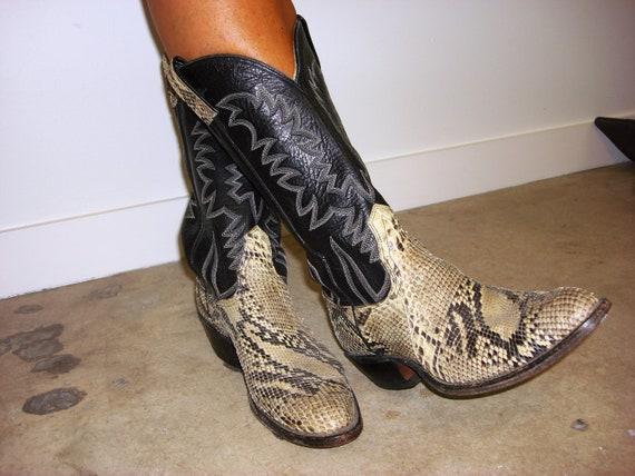 cowboy snakeskin boots custom made texassize 10