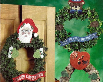 Wreath Huggers  Plastic Canvas Pattern The Needlecraft Shop 844731