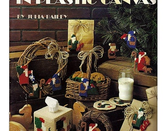 Many Santas In Plastic Canvas Pattern Book Leisure Arts Leaflet 1256