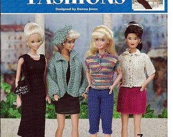 Fashion Doll Fashions Knit Doll Pattern  Book Annies Attic 872492