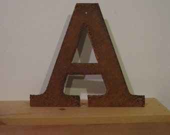 """Metal letter """"A"""" from Screaming Horse Iron Works. Lighted signs and Metal Letters."""