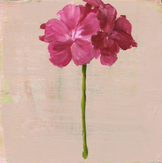 oil painting pink flower - photo #19