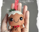 Gingerbread Man- Felt Ornament - Christmas decoration - Christmas ornament - Holiday Decoration