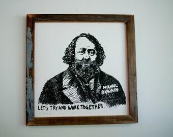 Mikhail Bakunin Screen Print Poster