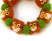Cute Owl bracelet - Wool felt bracelet - Bracelet with Owls - Spring bracelet - Wool jewelry - drudruchu