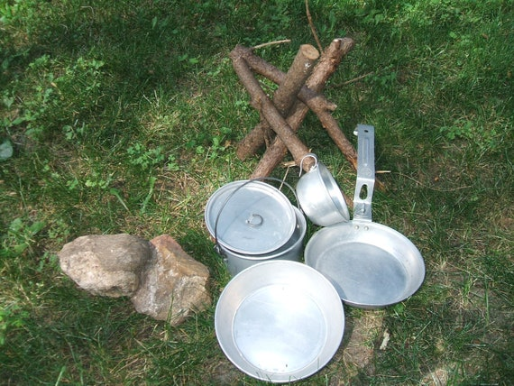 Official 1950s Boy Scouts of America 5pc Mess Kit
