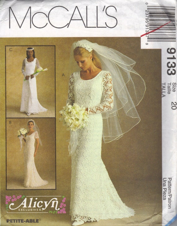 McCall 39 S Wedding Dress Sewing Pattern Sexy Fitted Bridal