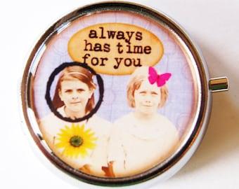 Best Friend, Girlfriend pill case, pill box, Pill Case, Pill Container, Gift for her, Mint case, Candy container, Humor, Gift for friend