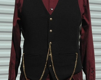 M Mens Steampunk Vest Master of the Changing Universe