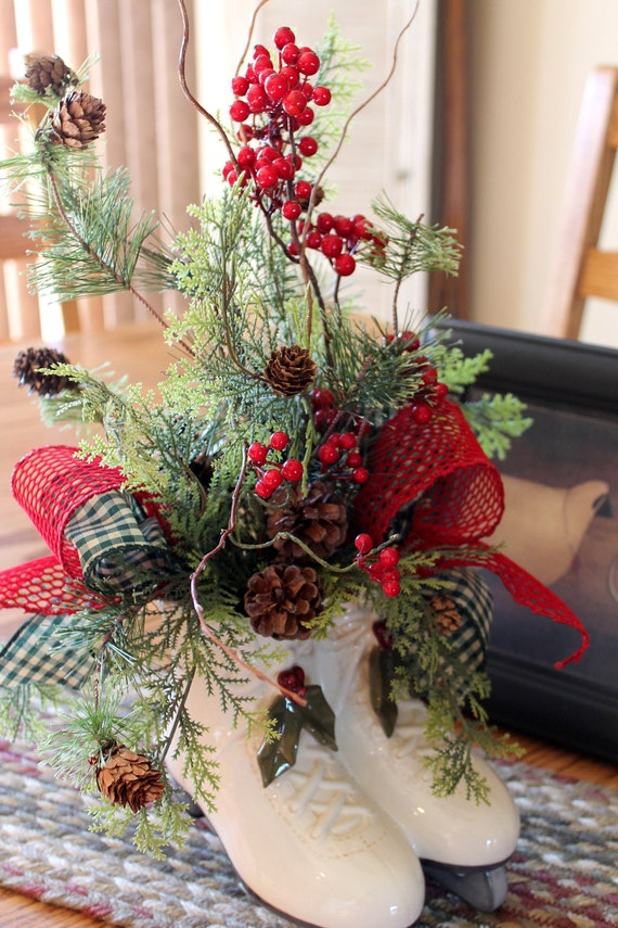 Items Similar To Christmas Centerpiece Country Decor