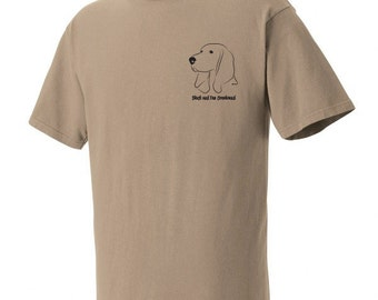 Black and Tan Coonhound Garment Dyed Cotton T-shirt