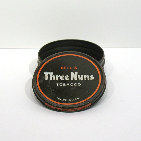 Bell's Three Nuns Tobacco Tin - Tobacco Advertising - Scottish Tobacco Tin - Pipe Tobacco Tin -2 Oz size - None Nicer - Imperial Tobacco Co.