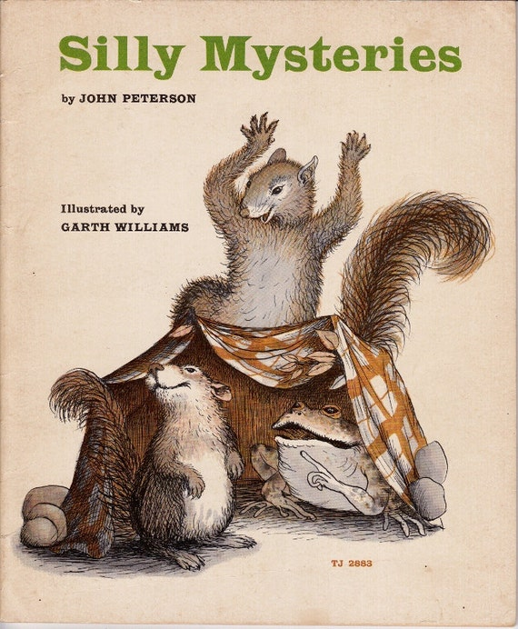 vintage kids book Silly Mysteries, funny animal mystery stories with illustrations by Laura Ingalls Little House artist Garth Williams