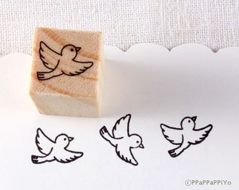 Fly bird Small Rubber Stamp