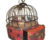 "Vintage Automated Bird Cage Jewelry Music Box With A Swinging Bird  ""Doctor Zhivago's Lara's Theme"""