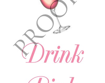 Breast Cancer Awareness Pink Wine or Spirits Label Custom & Personalized Available 5 Designs