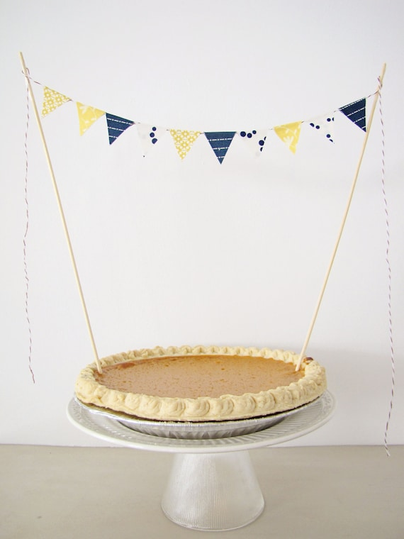 Fabric Cake Bunting Decoration Cake Topper by AthenaandEugenia