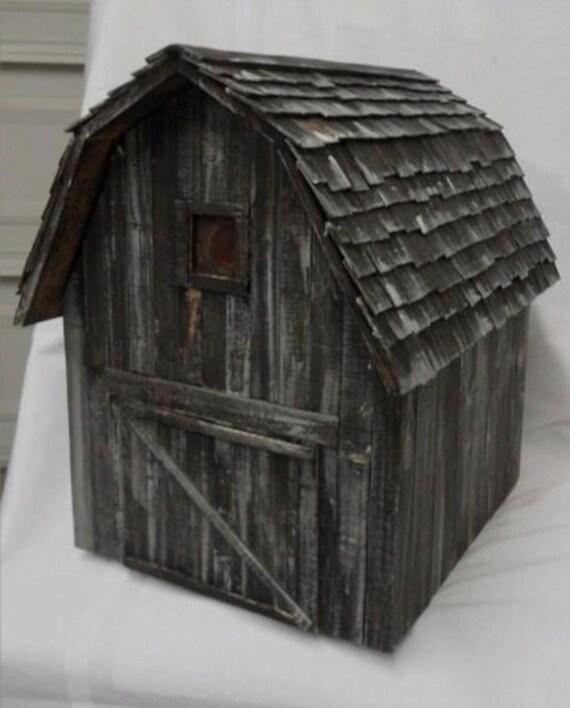 Items similar to barn birdhouse rustic birdhouse old - Old barn wood bird houses ...
