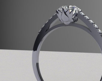 Lotus Engagement Ring