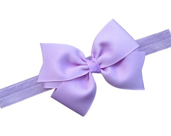 Light purple bow headband - light purple baby headband, newborn headband, bow headband, baby bow headband, baby girl headband
