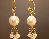 Ivory pearl petite filigree earrings Cosmopolitan 25