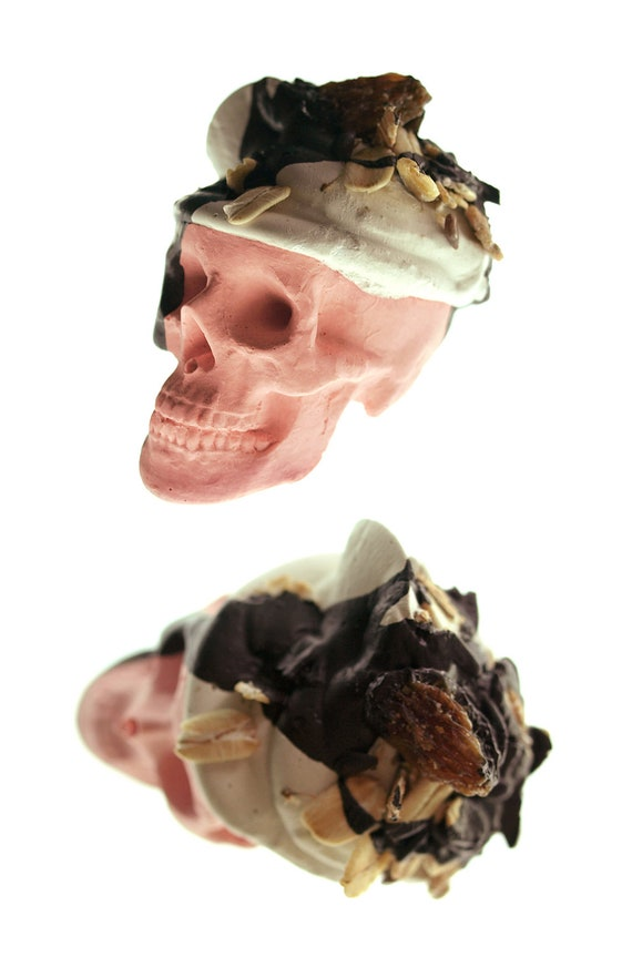 Strawberry Skull Resin Candy