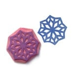 Arabic Rubber Stamp Eight-Point Star Mosaic Geometric - hand carved