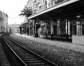 Italian riviera photo, train station, Dreamy, Romance, 8x10 print, railway station, Casablanca, Old world charm, home decor, gifts