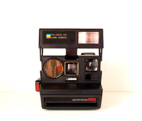 polaroid camera polaroid autofocus 660 land camera vintage. Black Bedroom Furniture Sets. Home Design Ideas