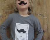 MoVemBer The Villain Fake Mustache  Kids T-shirt Fall Movember Tween and Teen