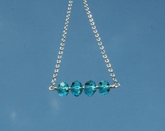 Sky Blue Glass Necklace
