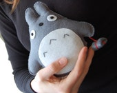 Handmade Totoro with a bundle unique gift for Totoro fans