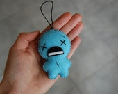 The Binding of Isaac Blue baby handicrafted felt plush ornament hanging decoration