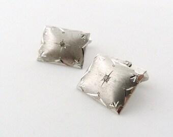 Sterling Silver Rhinestone Cuff Links - Stars Cufflinks