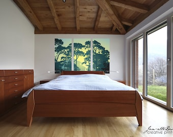 Forest Landscape Fabric Wall Decal, Wall Art