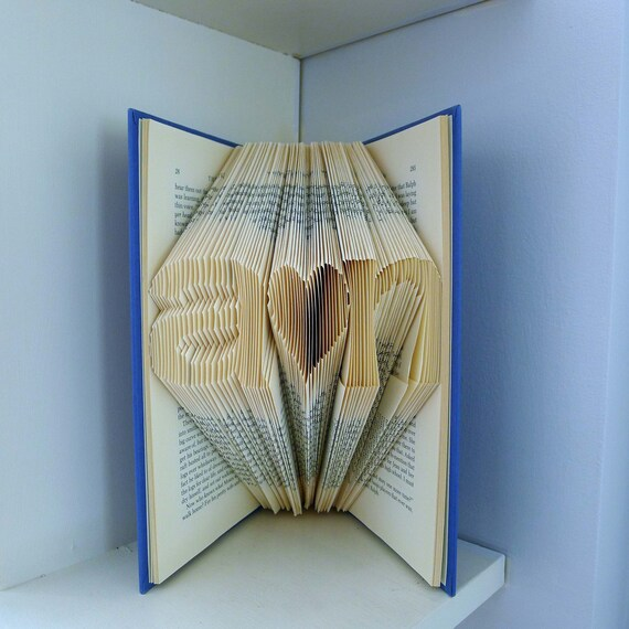 Express Mail Boyfriend / Girlfriend - Folded Book  Sculpture - Paper Anniversary Gift - 1st Wedding Gift  - Gift for Him - Gift for Her